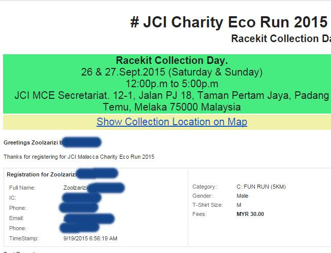 JCI charity eco run