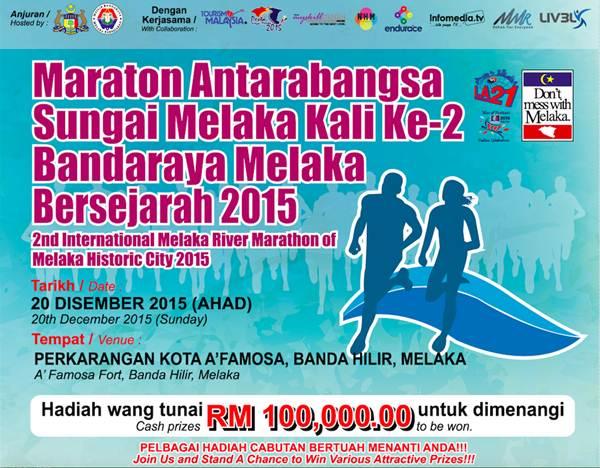 Kejohanan Marathon Antarabangsa Sungai Melaka kali ke 2 Melaka Bersejarah 2015