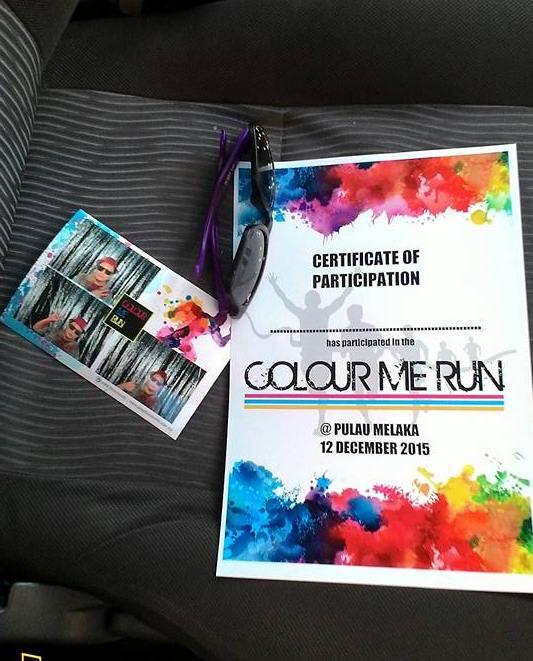Antara yang diberi pada program Colour Me Run Melaka