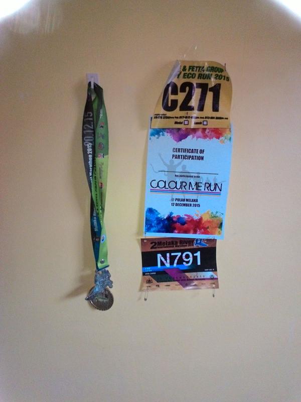 Medal, Sijil dan Bip Nombor acara larian yang kusertai