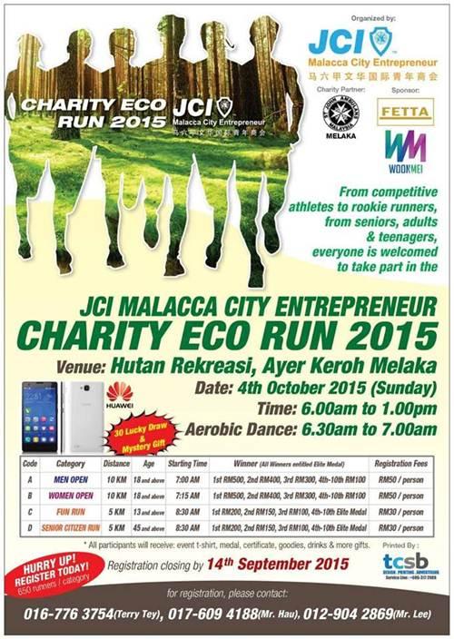 Daftar Larian Suka-suka 'Charity Eco Run 2015' , Unifi teruk di opis, cari freelance bangunkan sistem Aset