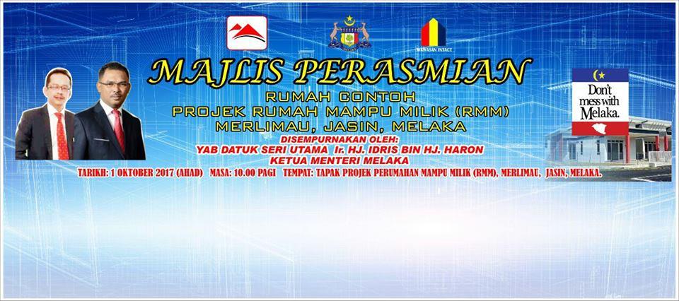 Majlis Perasmian Rumah Contoh di RMM Merlimau
