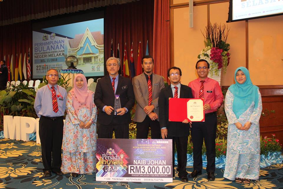 Tempat Kedua Anugerah Inovasi Peringkat Negeri Melaka